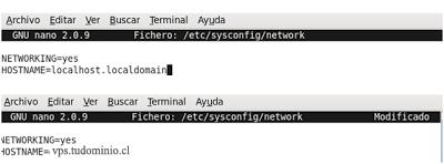 cambiar hostname de un servidor centos