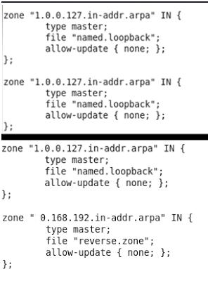 modificar archivo forward.zone