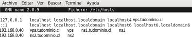 modificar el archivo hosts de /etc/hosts en centos